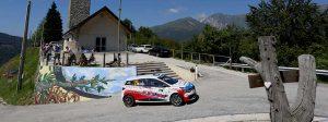 Panzani al Rally Friuli Venezia Giulia con i cerchi EVO Corse