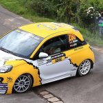The Opel Adams were protagonists at the Rally Germany