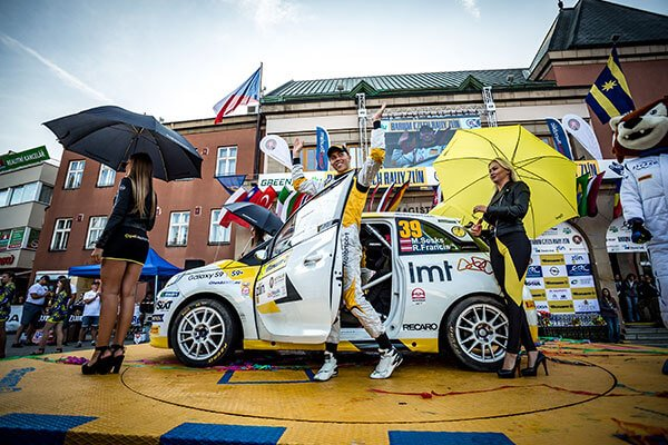 Sesks Opel Adam R2 Barum Rally - podium