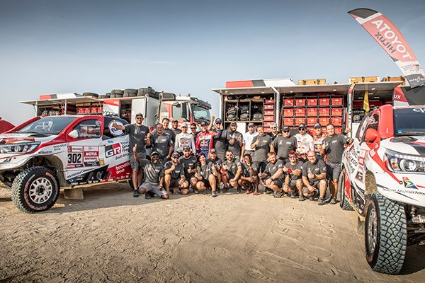 Toyota Gazoo and Overdrive Racing Team at the Dakar Rally